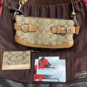 Coach signature purse and card case